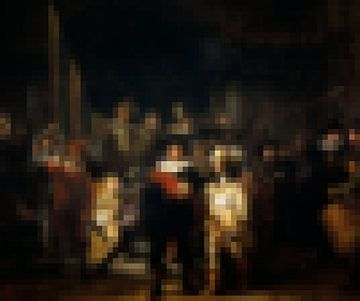 Pixel Art: De Nachtwacht van Olaf Kramer