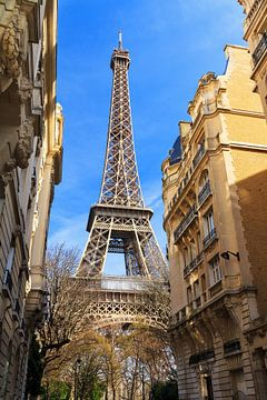 Eiffeltoren Parijs vanuit de wijk