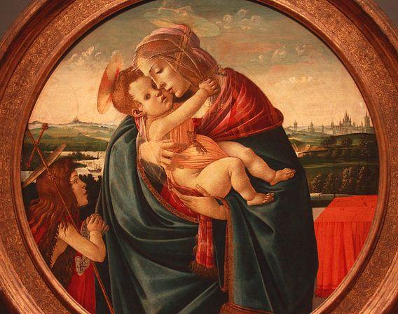 Botticelli madonna en kind met Johannes de Doper van lieve maréchal