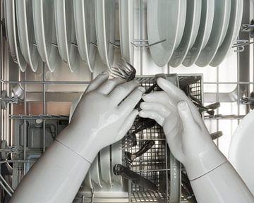 Den Geschirrspüler mit Porzellanhänden reinigen von Peter Hermus