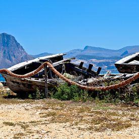 Verlaten vissershaven van de tonijnvissers van Silva Wischeropp