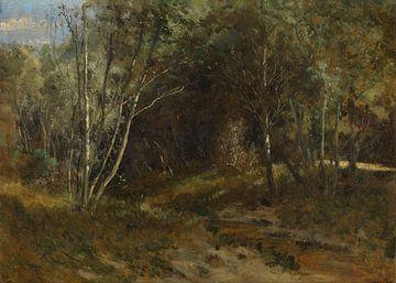 Carlos de Haes Waldlandschaft in den Bergen, Antike Landschaft