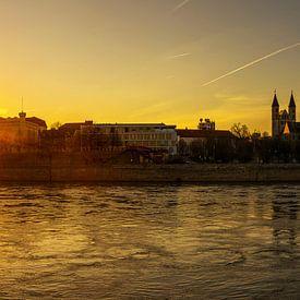 Magdeburg Skyline im Sonnenuntergang von Frank Herrmann