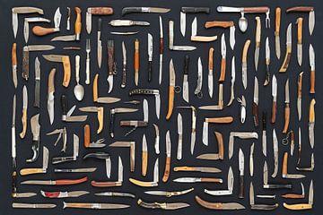 Sammlung von Taschenmessern von Floris Kok