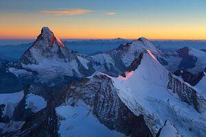 Matterhorn bij zonsondergang van