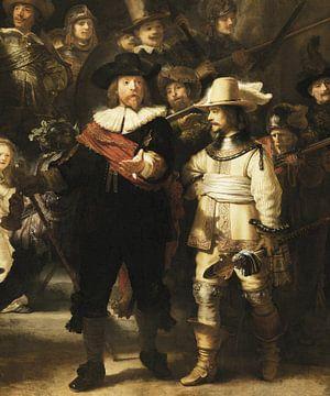 De Nachtwacht, Rembrandt van Rijn (uitsnede)