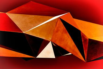 Rode driehoeken van Dieter Ludorf