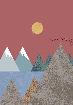 Berglandschap, 1x Studio II van 1x