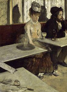 Schilderij De absintdrinkster van Edgar Degas