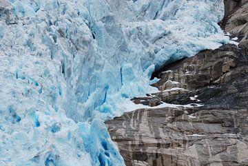 Gletsjer Briksdalsbreen Noorwegen von Margreet Frowijn