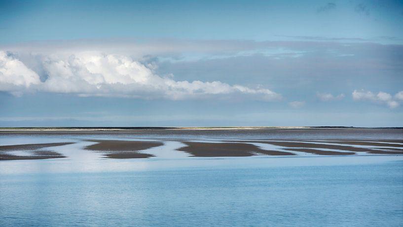 Zandbanken op de Waddenzee van Greetje van Son
