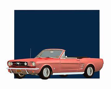 Klassieke auto – Oldtimer Ford Mustang 1964 convertible
