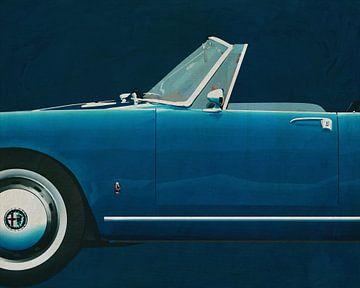 Alfa Romeo Giulietta 1300 Spyder 1955 détail sur Jan Keteleer