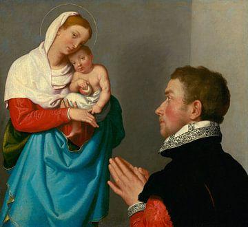 Ein Herr in Anbetung vor der Madonna, Giovanni Battista Moroni