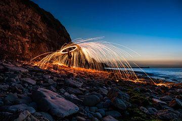 De Oranje Cirkel in de avond van Alex Plomp