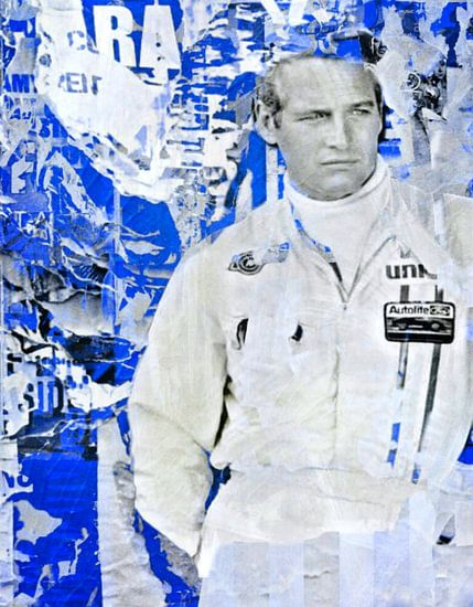 Paul Newman - Plakative Collage Blue