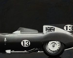 Jaguar Type D 1956 B&W