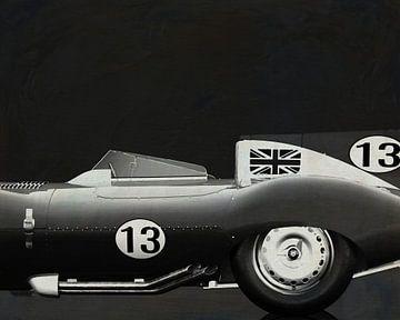 Jaguar Type D 1956 B&W van Jan Keteleer