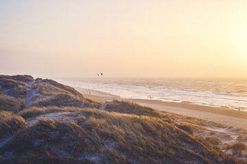 Warmer Abend an der Nordseeküste von Florian Kunde