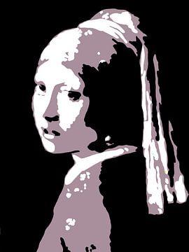 Abstracte Meisje met de Parel van Atelier Derik