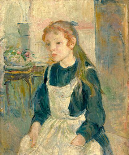 Junges Mädchen mit einer Schürze, Berthe Morisot von Liszt Collection