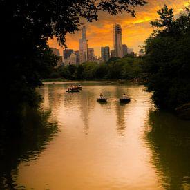 Boote im Central Park, New York von Nynke Altenburg