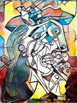 Hommage aan Picasso (7) van zam art
