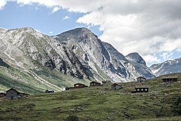 Noorwegen - Fjell - Aurland van Lars Scheve