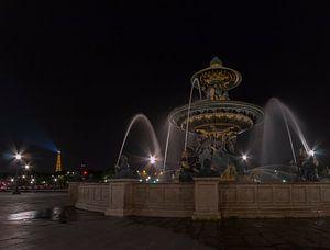 Fonteine a Place de la Concorde van Bart van der Horst