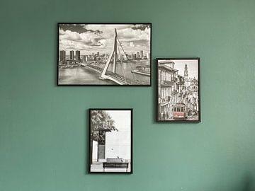 Kundenfoto: Erasmusbrücke Rotterdam schwarzweiß von Michèle Huge