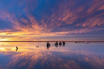 Spektakulärer Sonnenaufgang - Natürliches Wattenmeer von Anja Brouwer Fotografie