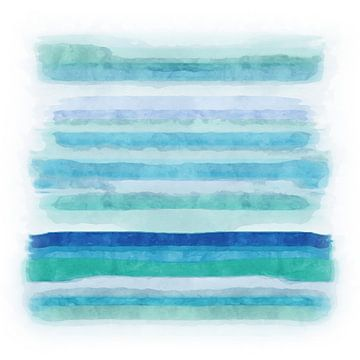 Blue ocean with blue sky