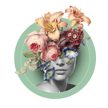 Autoportrait avec des fleurs (9) sur toon joosen