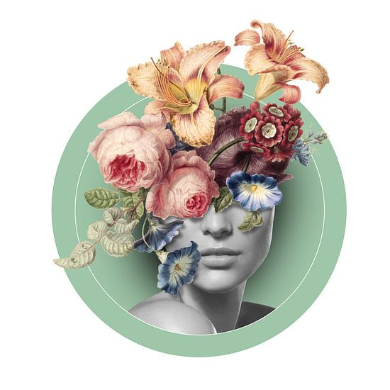 Selbstbildnis mit Blumen (9)
