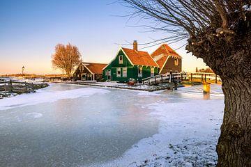 Winter op de Zaanse Schans van Dick Portegies