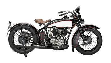 Historische motorfiets van Achim Prill