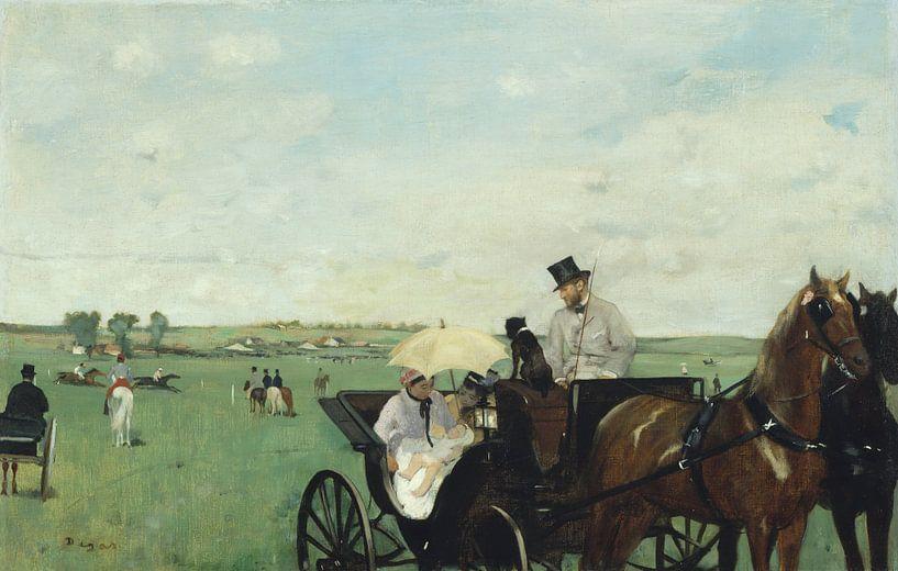 Edgar Degas. At the Races in the Countryside von 1000 Schilderijen