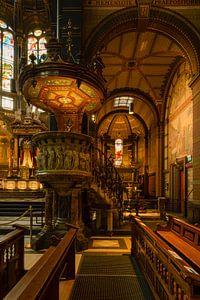 Interieur Sint Nicolaas Basiliek Amsterdam van Peter Bartelings Photography