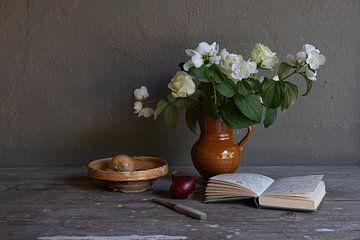 Stilleven met boerenjasmijn van Affectfotografie