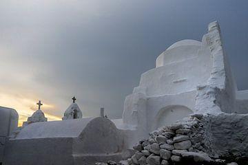 Kirche auf der griechischen Insel Mykonos von Richard Mijnten