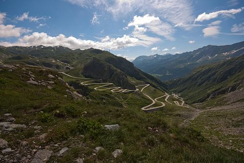 Uitzicht Gotthardpas van