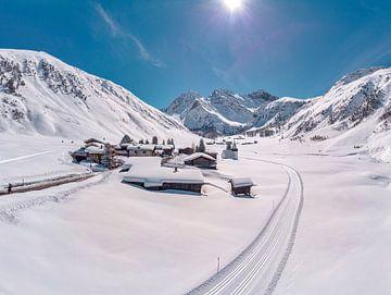 Kirche St. Johann, Sertigtal, Davos - Sertig dorf, Graubünden, Suisse sur Rene van der Meer