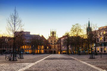 Een heldere ochtend op de Domplatz, Münster van Martijn Mureau