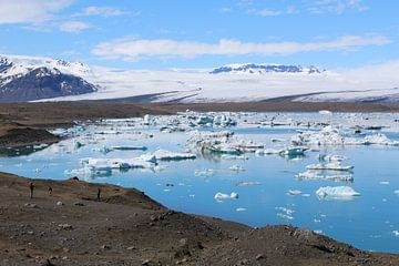 Jökulsárlón gletsjermeer IJsland van Martin van den Berg Mandy Steehouwer