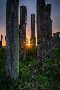 Zonsondergang Paalgraven von Jeffrey Van Zandbeek
