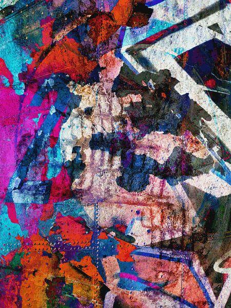 Modern, Abstract Digitaal Kunstwerk – Dreams Full Of Color Part 3 van Art By Dominic