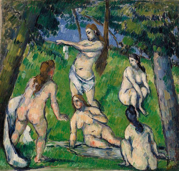 Fünf Badende, Paul Cézanne (ca. 1877-1878) von Atelier Liesjes