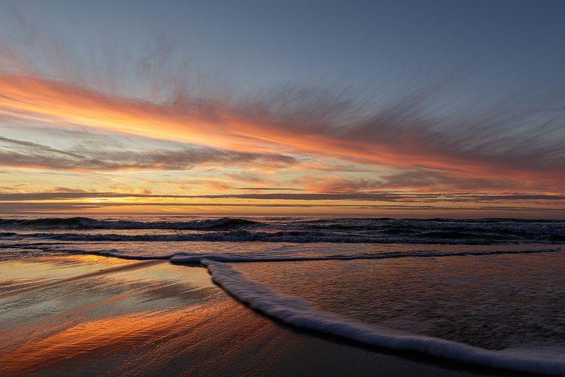 Soleil du soir Mer du Nord sur Anjo ten Kate