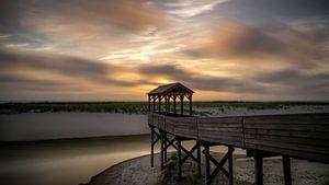 Panoramische zonsondergang