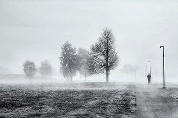 Jogger in de mist von Gerard Goseling